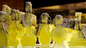 Limoncello from region of Campania